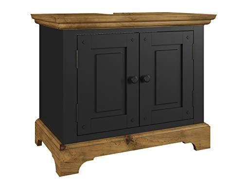 Woodkings/® Bad H/ängeschrank Kalkutta recyceltes Holz bunt rustikal H/ängebad Badhochschrank massiv Badm/öbel Massivholz Badezimmer Badezimmerschrank Wandschrank