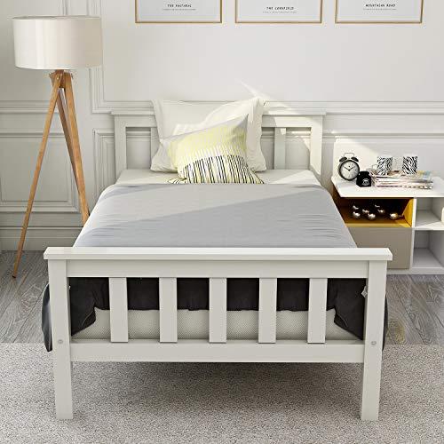 Holzbett Doppelbett Jugendbett Bettgestell Einzelbett Kiefer Bett 160x200