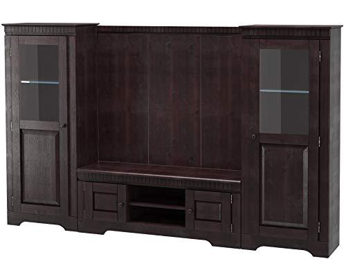 loft24 marianne wohnwand wohnzimmer set komplett anbauwand mediawand tv hifi mobel kolonialstil holz kiefer massiv