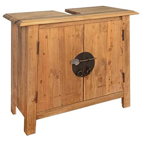 Waschbeckenunterschrank aus Massivholz