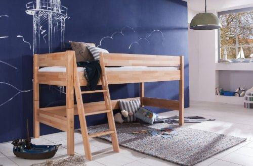 kinderhochbett massivholz. Black Bedroom Furniture Sets. Home Design Ideas