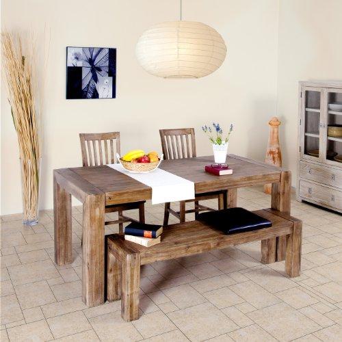 K chentisch massivholz for Wohnzimmertisch zum esstisch