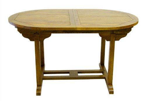 DIVERO Tisch Akazie Gartentisch Holztisch Holz 140/180 Cm Massiv Ausziehbar  Oval