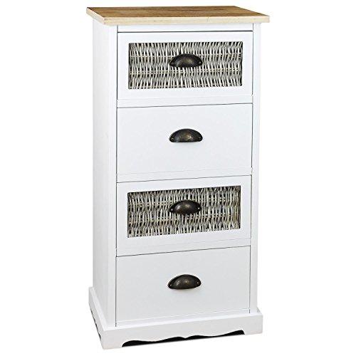 schicke holz kommode im landhaus stil mit 4 schubladen. Black Bedroom Furniture Sets. Home Design Ideas