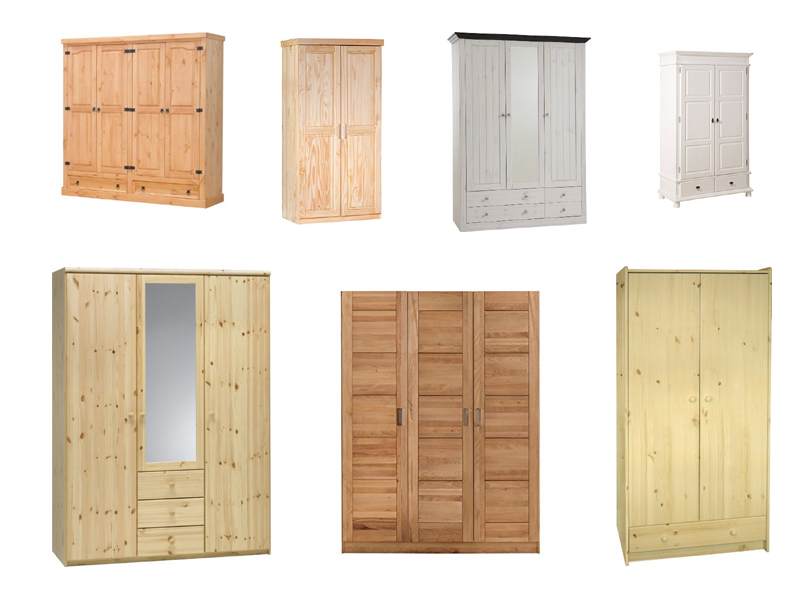 Kleiderschrank massiv / Massivholz