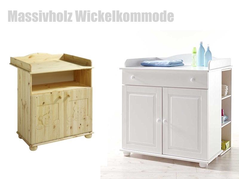 BioKinder Spar-Set Laura Kommode Wickeltisch Wickelkommode mit Aufsatz Typ 2 aus Massivholz Erle